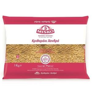 """Κριθαράκι Χοντρό """"Misko"""" (3 Kg τεμάχιο/4 τεμάχια στο κιβώτιο)"""