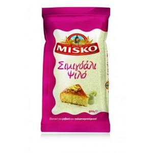 """Σιμιγδάλι ψιλό """"MISKO"""" (400 gr τεμάχιο/12 τεμάχια  στο κιβώτιο)"""