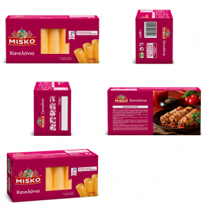 """Μακαρόνια Κανελόνια """"Misko"""" (250 gr τεμάχιο/ 12 τεμάχια στο κιβώτιο)"""