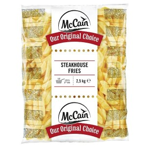 """Πατάτα Προτηγανισμένη Κατεψυγμένη Steak 9X18 """"McCain"""" (2.5 Kg τεμάχιο / 5 τεμάχια στο κιβώτιο)"""