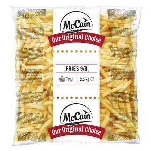 """Πατάτα Προτηγανισμένη Κατεψυγμένη 9Χ9 """"McCain"""" (2.5 Kg τεμάχιο / 5 τεμάχια στο κιβώτιο)"""