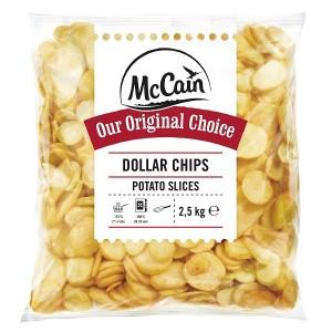 """Πατάτα Προτηγανισμένη Κατεψυγμένη Ροδέλα """"McCain"""" (2.5 Kg τεμάχιο / 5 τεμάχια στο κιβώτιο)"""