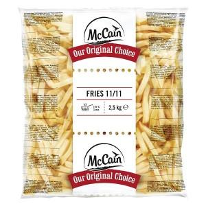 """Πατάτα Προτηγανισμένη Κατεψυγμένη 11Χ11 """"McCain"""" (2.5 Kg τεμάχιο / 5 τεμάχια στο κιβώτιο)"""