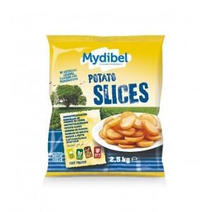 """Πατάτα Προτηγανισμένη Κατεψυγμένη Ροδέλα """"Mydibel"""" (2.5 Kg τεμάχιο / 4 τεμάχια στο κιβώτιο)"""