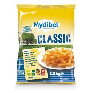 """Πατάτα Προτηγανισμένη Κατεψυγμένη 9Χ9 Classic """"Mydibel"""" (2.5 Kg τεμάχιο / 4 τεμάχια στο κιβώτιο)"""