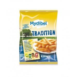 """Πατάτα Προτηγανισμένη Κατεψυγμένη 11Χ11 Tradition """"Mydibel"""" (2.5 Kg τεμάχιο / 4 τεμάχια στο κιβώτιο)"""