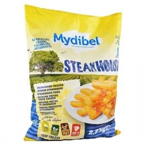 """Πατάτα Προτηγανισμένη Κατεψυγμένη Steak """"Mydibel"""" (2.5 Kg τεμάχιο / 4 τεμάχια στο κιβώτιο)"""