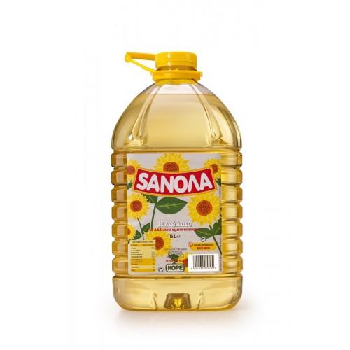 """Ηλιέλαιο """"Sanola"""" (5 Lt τεμάχιο/ 3 τεμάχια στο κιβώτιο)"""