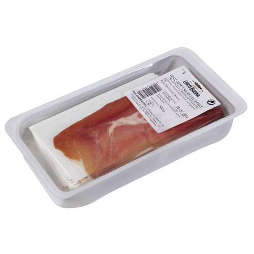 """Προσούτο φέτες """"Crudo"""" (0.500 gr τεμάχιο- 9 τεμάχια στο κιβώτιο)"""